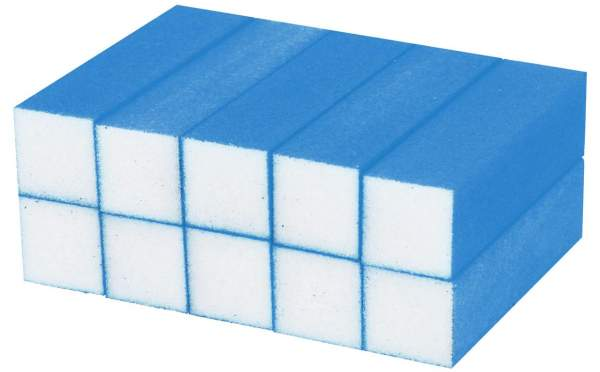 Buffer Block Neon Blue 10 pcs