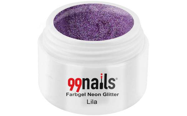 Neon Glitter Gel - Purple 5ml