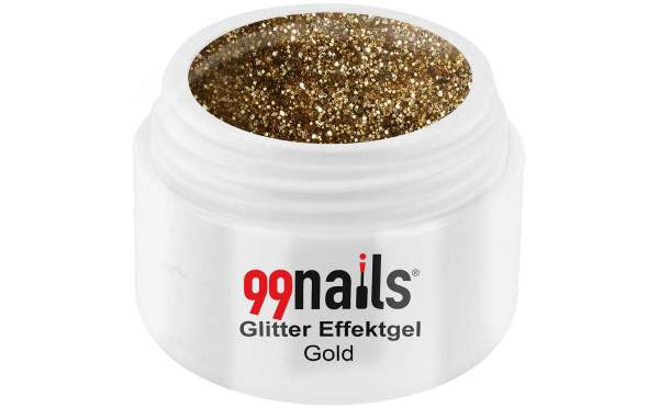 Glitter Gel - Gold 5ml