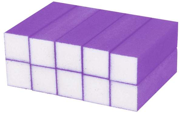 Buffer Block Neon Purple 10 pcs