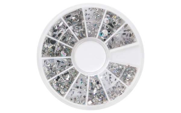 Rhinestone Wheel Silver Mix