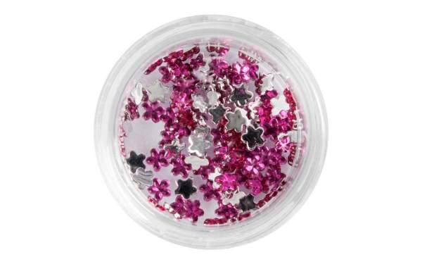 Nail Art Flower Rhinestones Pink