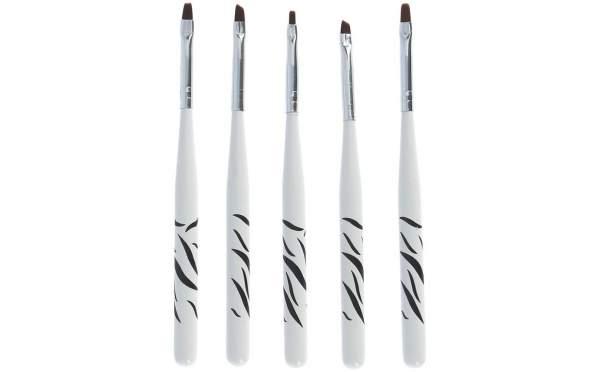 Zebra Design Gel Brush Set 5 pcs
