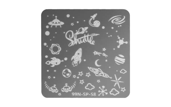 Square Stamping Plate - Shuttle
