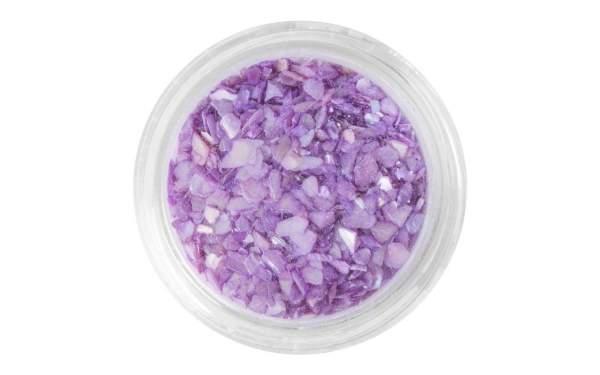 Nail Art Crushed Seashells Purple