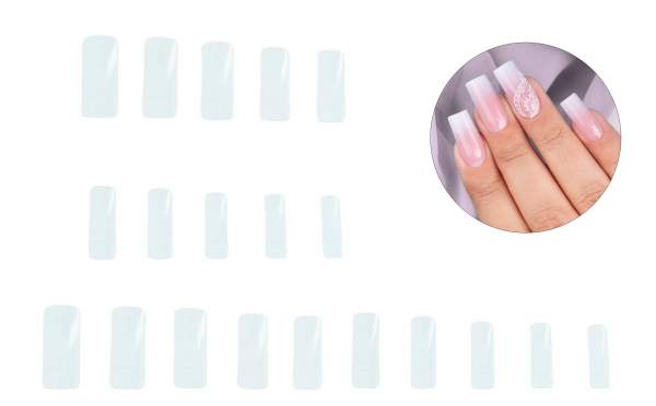 Clear Nail Tips Classic-Refill Pack 500 pcs