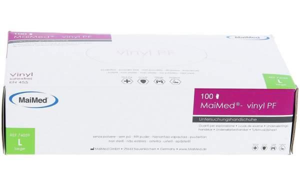 MaiMed Vinyl Gloves White 100 pack Size L