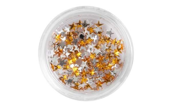 Nail Art Star-shaped Rhinestones Gold