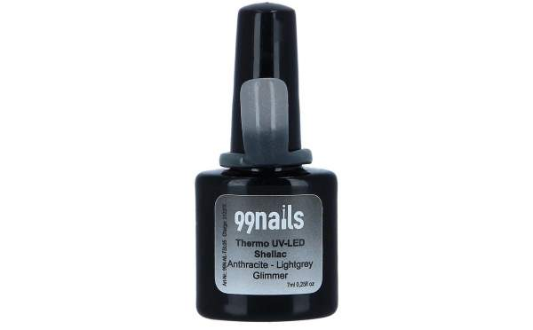 UV Thermo Shellac - Anthracite-Lightgrey Glimmer 8ml