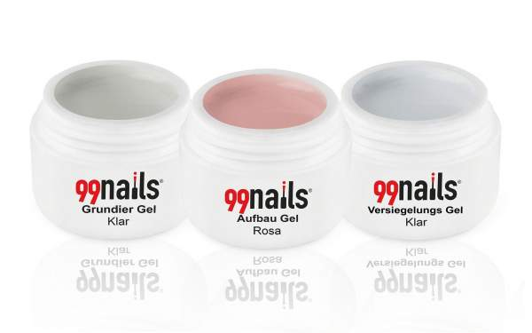 3 Step Gel Set - Light Pink 5ml