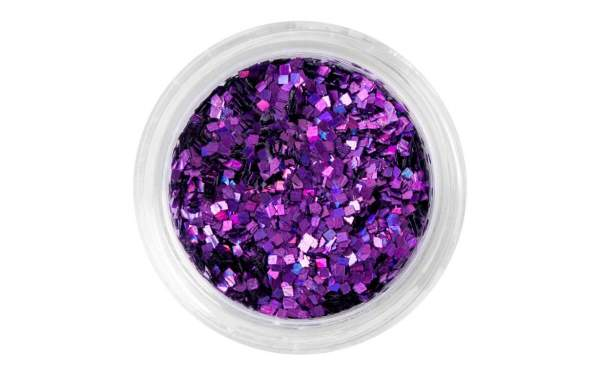 Nail Art Square-shaped Sequins Purple