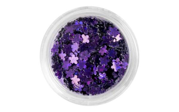 Nail Art Flower Sequins Purple