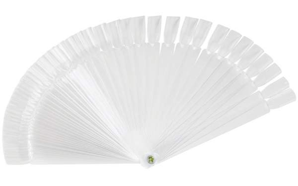 Large Nail Art Display Fan - 48 Tips Clear