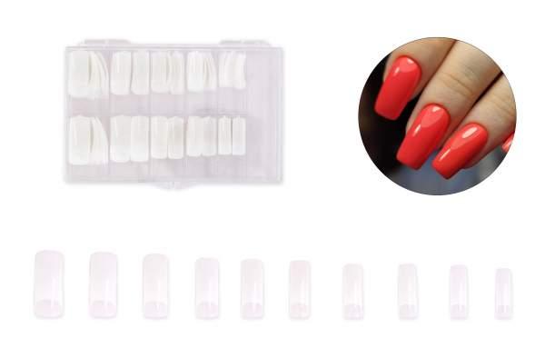 Premium Nagel Tips Natur Glamour Sortierbox 100 Stk