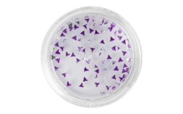 Nail Art Triangle Rhinestones Purple