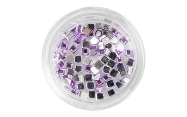 Nail Art Square Rhinestones Light Purple