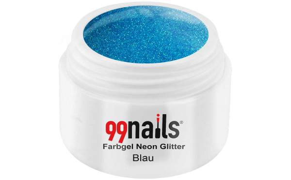 Neon Glitter Gel - Blue 5ml
