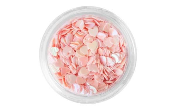 Nail Art Sequin Hearts Light Pink