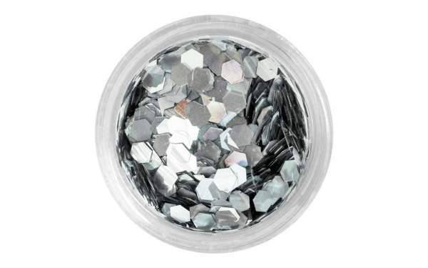 Nailart Pailletten groß Silver