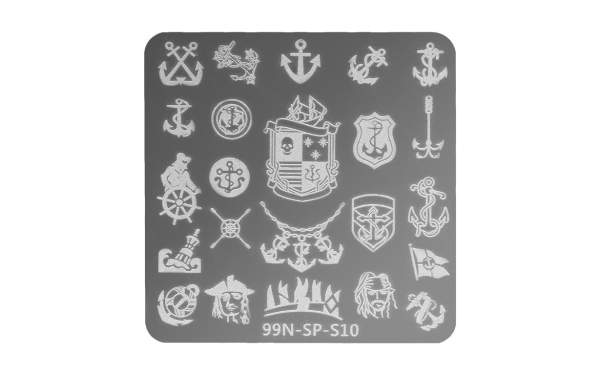 Square Stamping Plate - Pirates