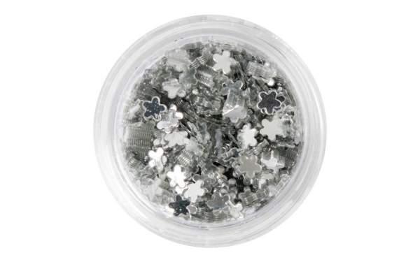 Nail Art Flower Sequins Silver