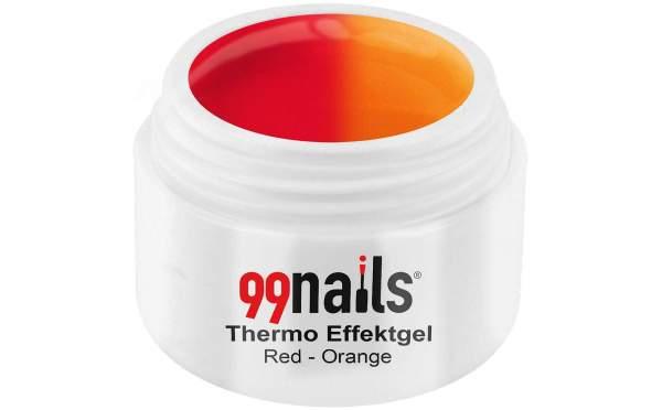 Thermo Glitter Gel - Red-Orange 5ml