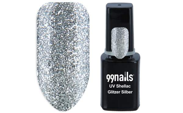 UV Shellac - Glitzer Silber 12 ml