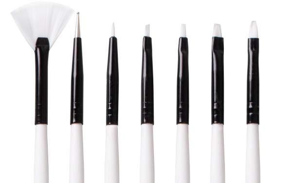 Nail Art Brush Set White Series 7 pcs