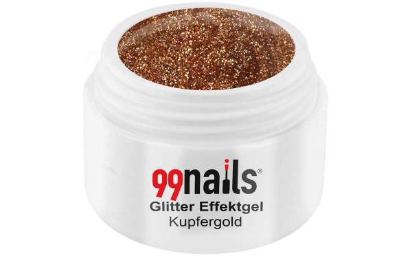 Glitter Gel - Golden Copper 5ml
