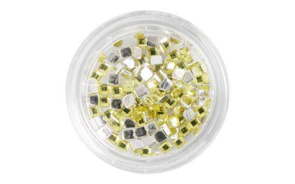 Nail Art Square Rhinestones Yellow