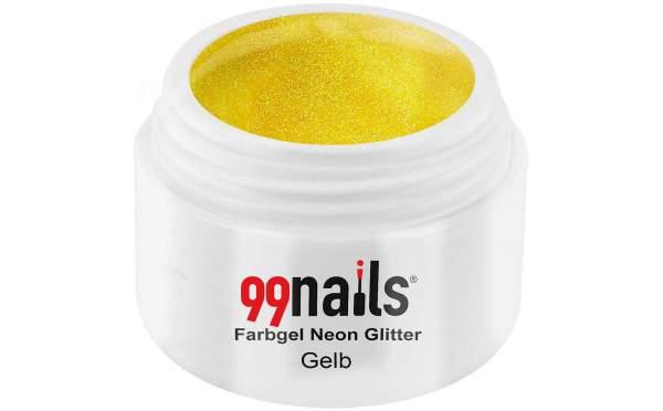Neon Glitter Gel - Yellow 5ml