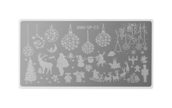 Special Stamping Plate - White Christmas