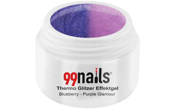 Thermo Glitter Gel - Blueberry-Purple Glamour 5ml