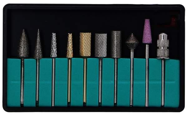 Deluxe Nagelfräser Bits 11er Set für Tritor Nagelfräser