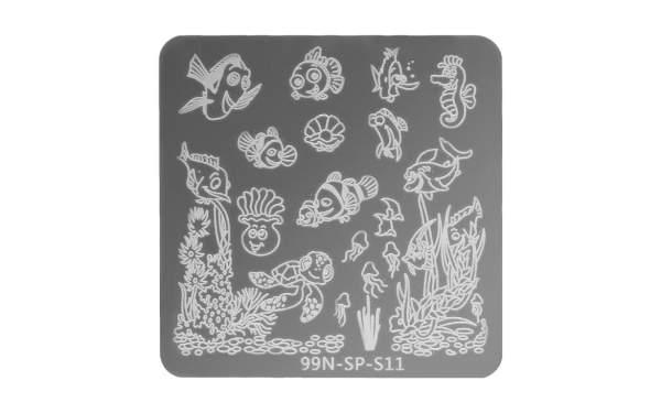 Square Stamping Plate - Ocean