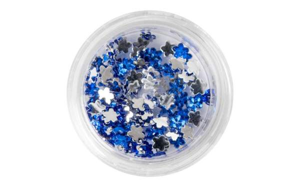 Nail Art Flower Rhinestones Blue