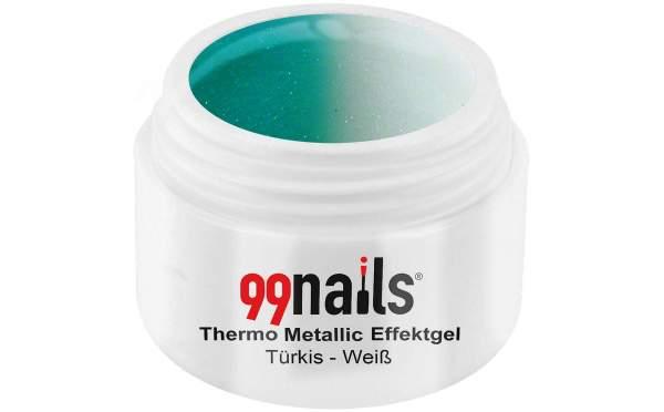 Thermo Metallic Gel - Turquoise-White 5ml