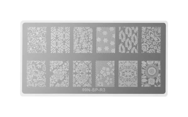 Rectangular Stamping Plate - Love Story