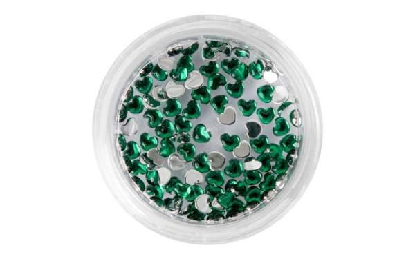 Nail Art Heart-shaped Rhinestones Green