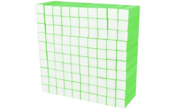 Buffer Block Neon Green 100 pcs
