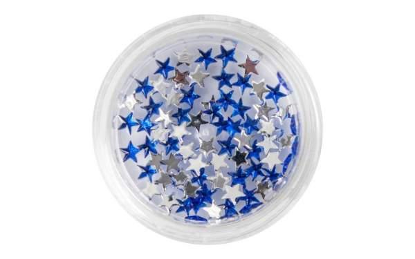 Nail Art Star-shaped Rhinestones Blue