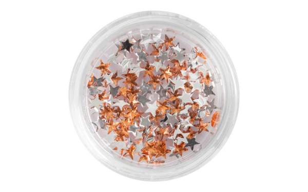 Nail Art Star-shaped Rhinestones Orange