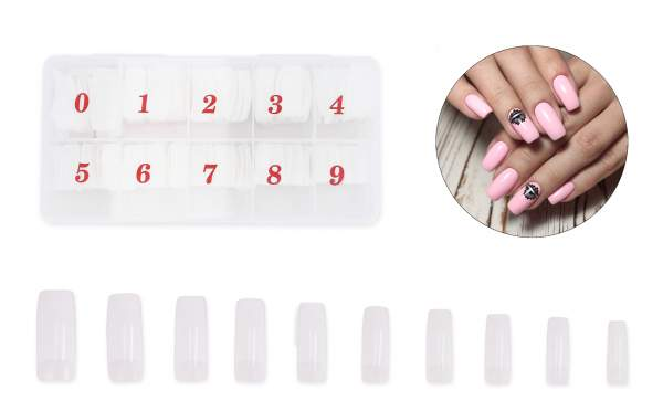 Claw Curve Nail Tips Natural Look Storage Box 250 pcs